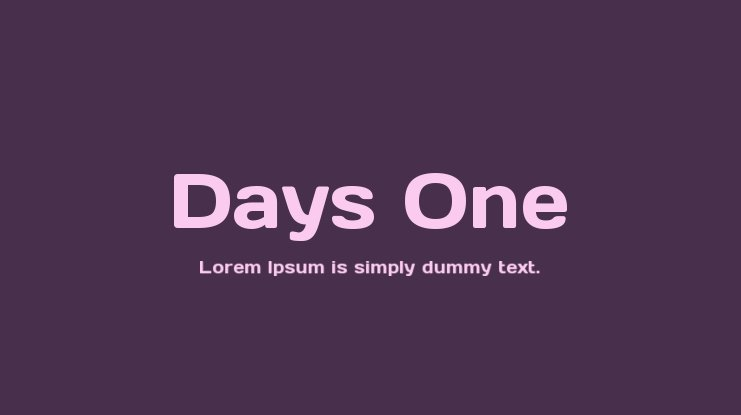 Days One Font