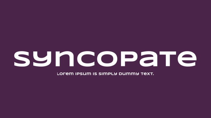 Syncopate Font Family
