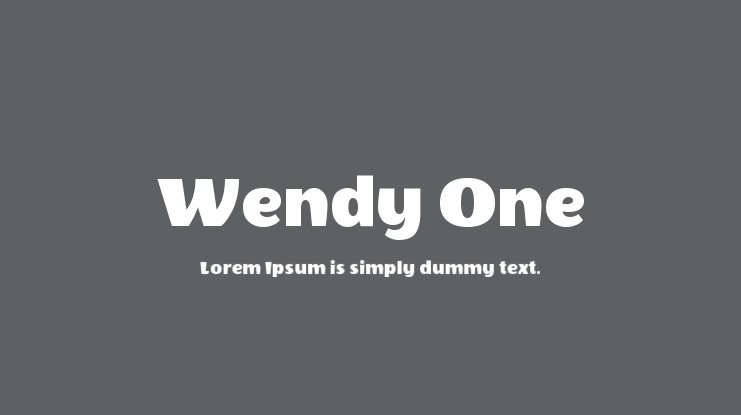 Wendy One font