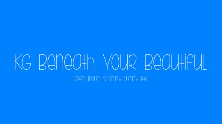 KG Beneath Your Beautiful Font Family