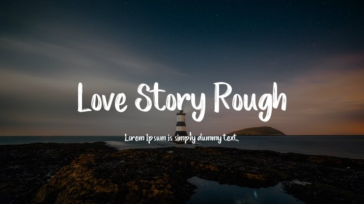 Love Story Rough Font