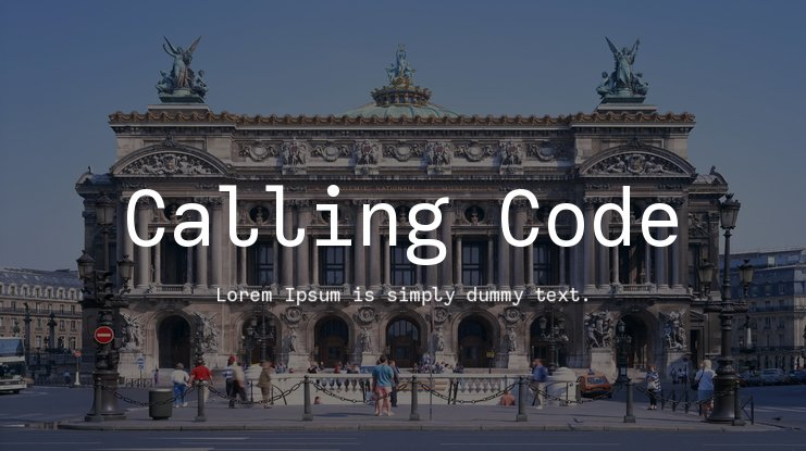 Calling Code Font Family