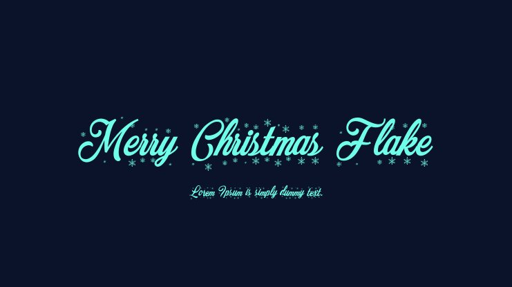 Merry Christmas Flake Font Family