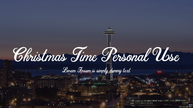 Christmas Time Personal Use Font