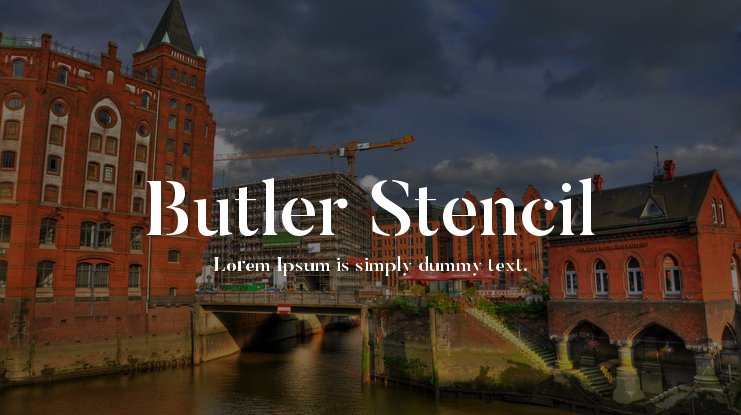 Butler Stencil Font Family