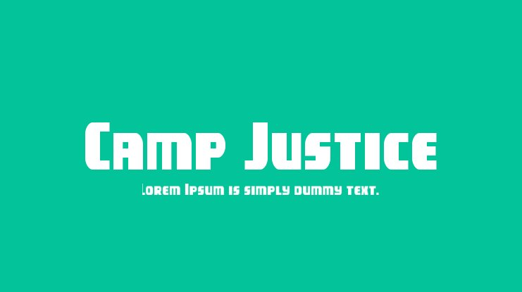 Camp Justice Font Family