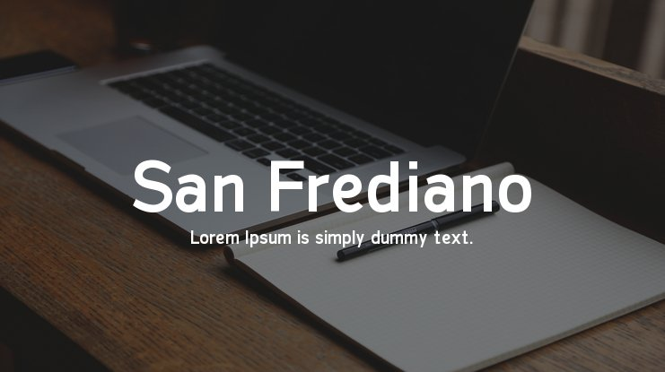 San Frediano Font Family