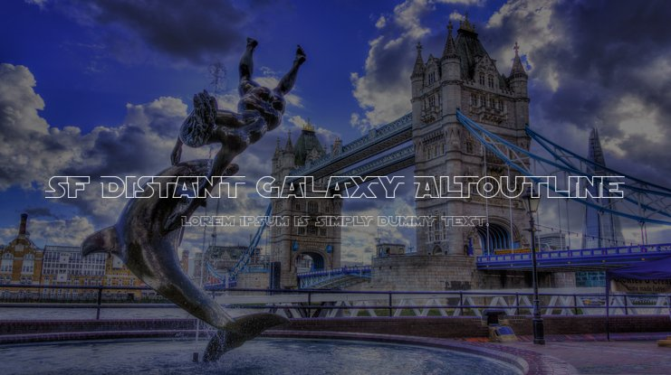 SF Distant Galaxy AltOutline Font Family