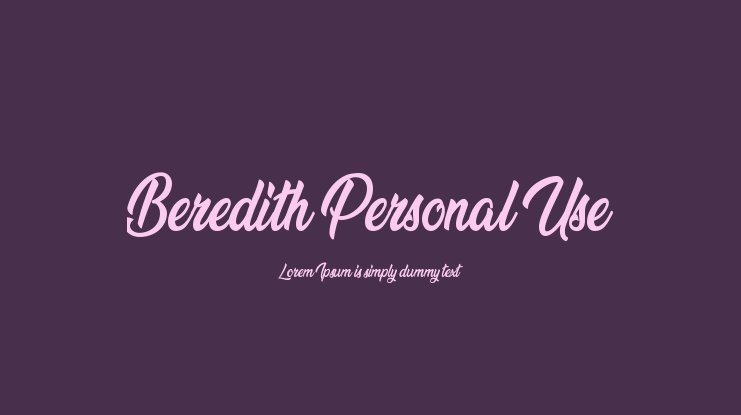 Beredith Personal Use Font