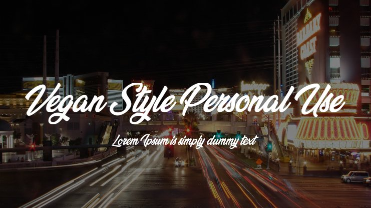 Vegan Style Personal Use Font