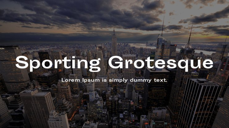 Sporting Grotesque Font Family