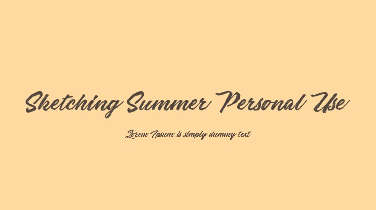 Sketching Summer Personal Use Font
