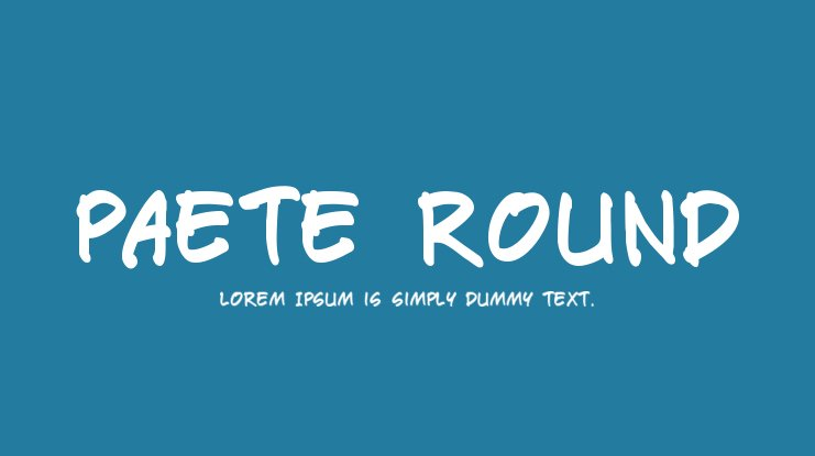 Paete Round Font Family