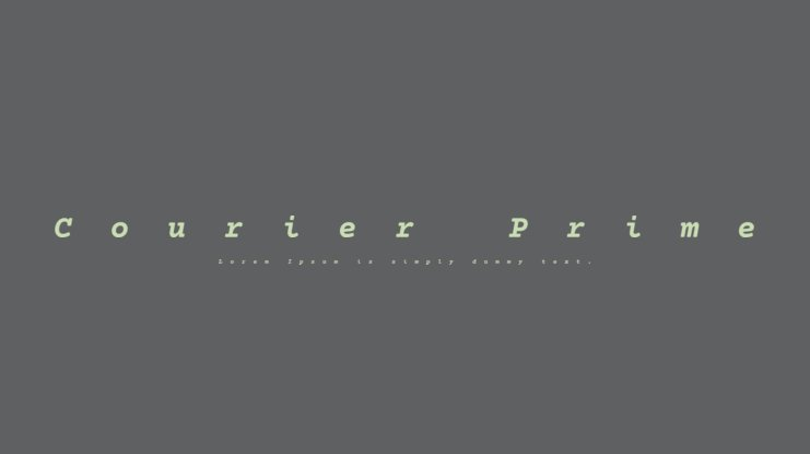 Courier Prime Font Family
