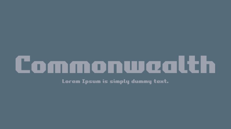Commonwealth Font Family