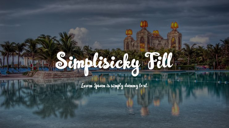 Simplisicky Fill Font Family
