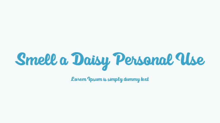Smell a Daisy Personal Use Font