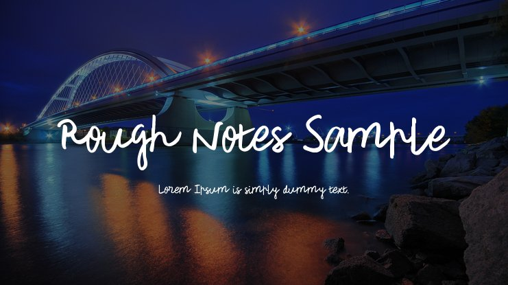 Rough Notes Sample Font Family