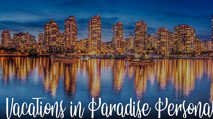 Vacations in Paradise Personal Font