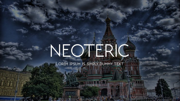 NEOTERIC Font Family