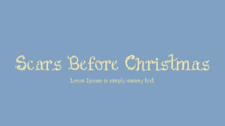 Scars Before Christmas Font