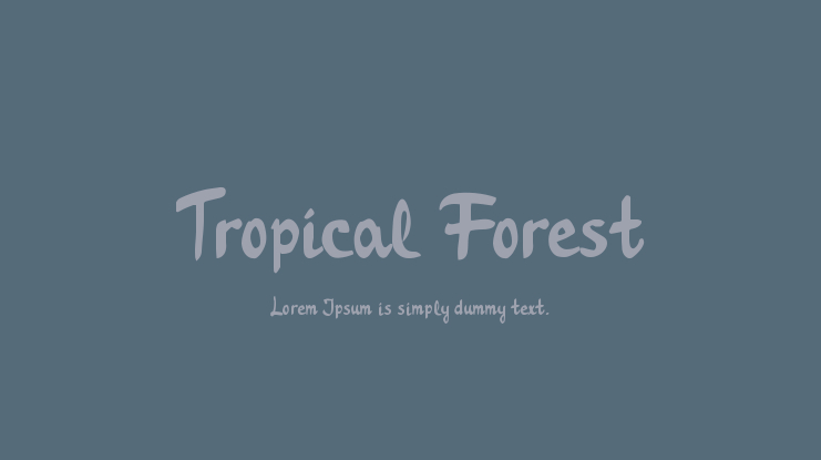 Tropical Forest Font
