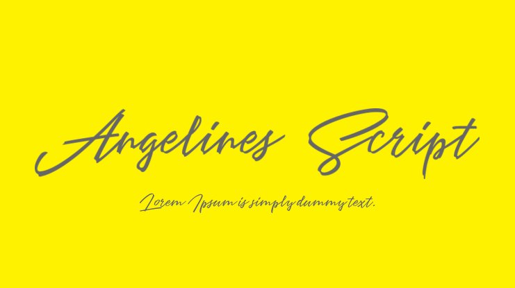 Angelines Script Font Family