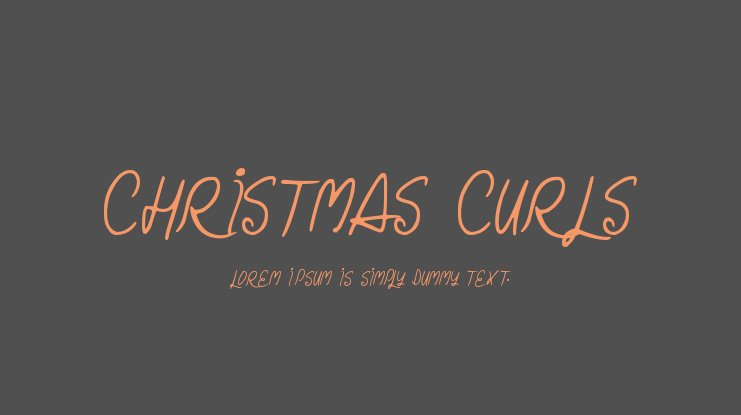 Christmas Curls Font Family