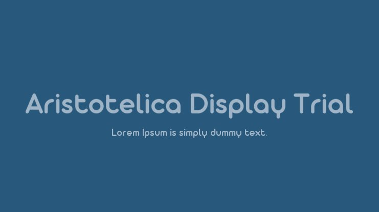 Aristotelica Display Trial Font Family