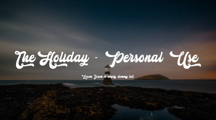 The Holiday - Personal Use Font