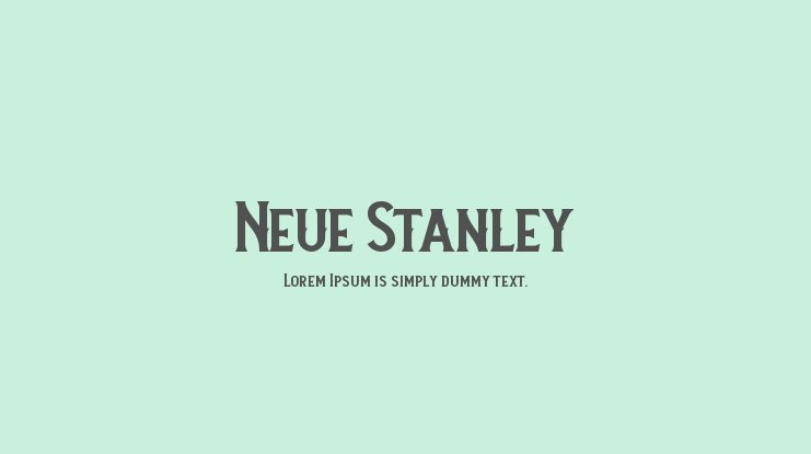 Neue Stanley Font Family