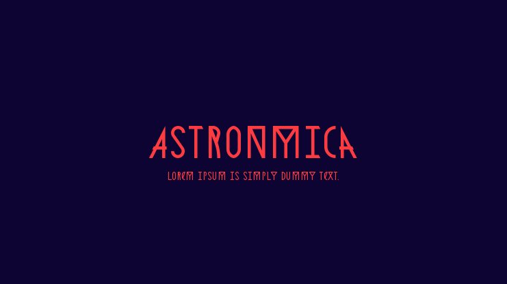 Astronmica Font Family