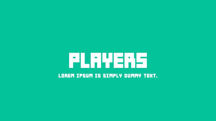 Players Font Family