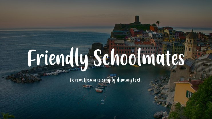 Friendly Schoolmates Font Family