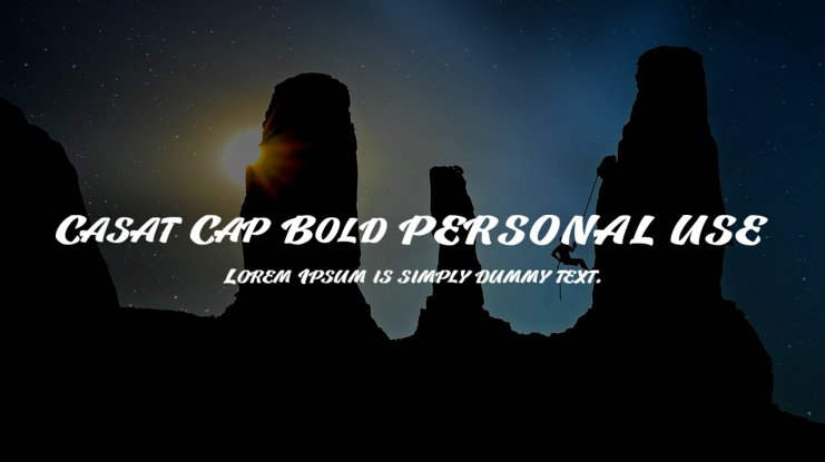 Casat Cap Bold PERSONAL USE Font Family