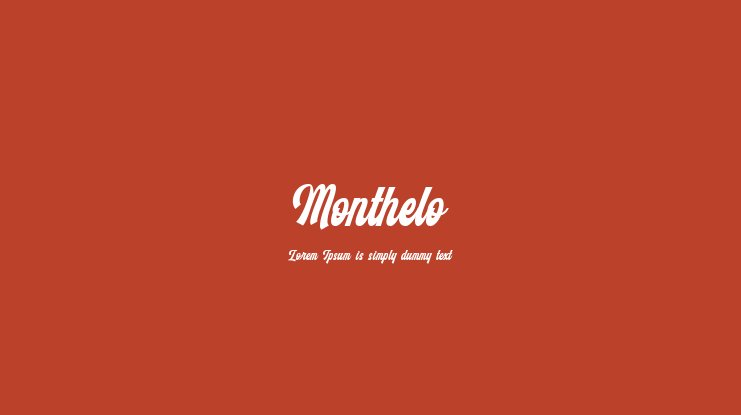 Monthelo Font Family
