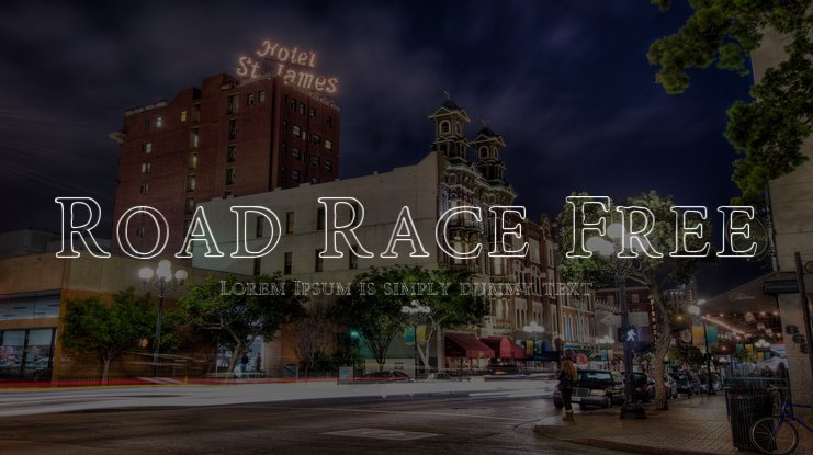 Road Race Free Font Family