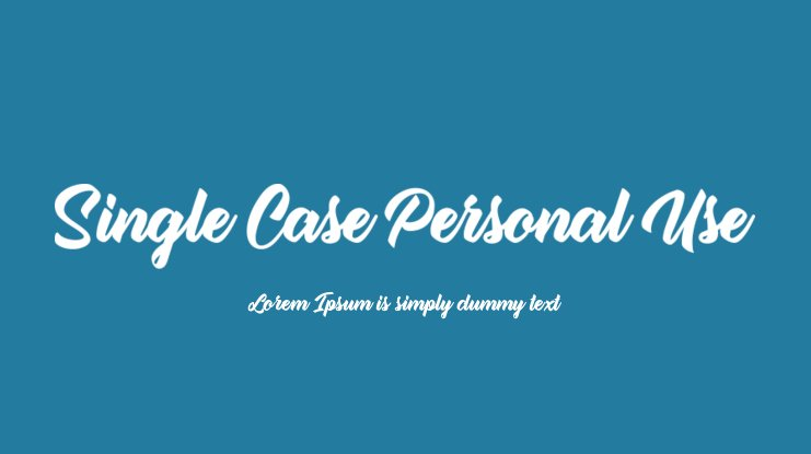 Single Case Personal Use Font