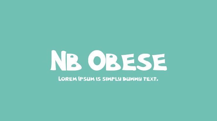 Nb Obese Font