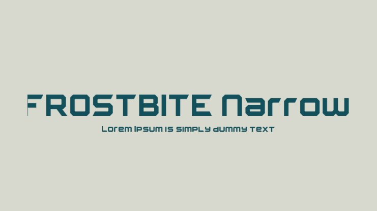 FROSTBITE Narrow Font Family