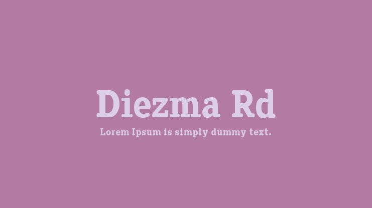 Diezma Rd Font Family
