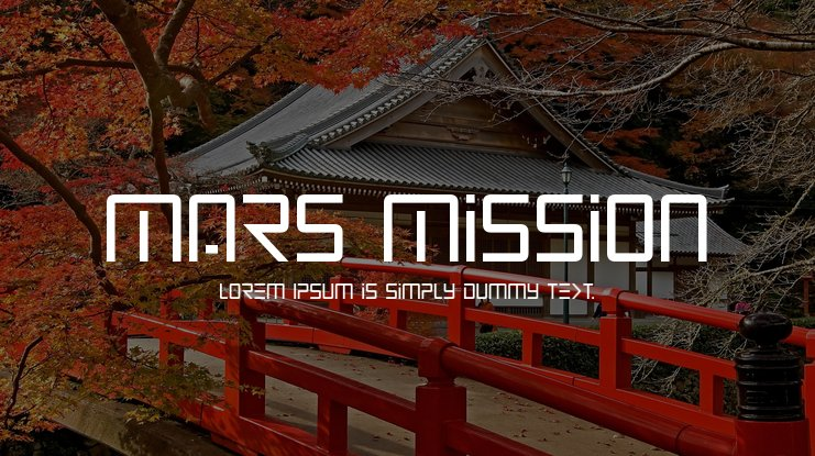 Mars Mission Font Family