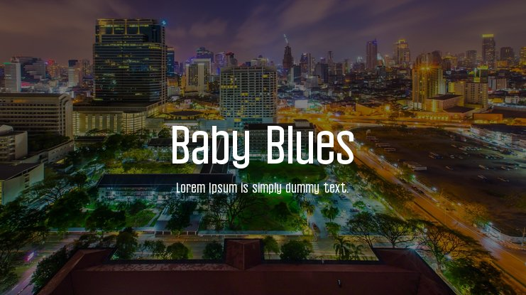 Baby Blues Font Family