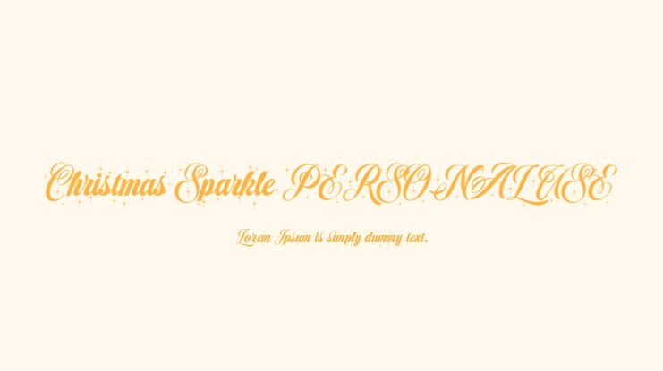 Christmas Sparkle PERSONAL USE Font