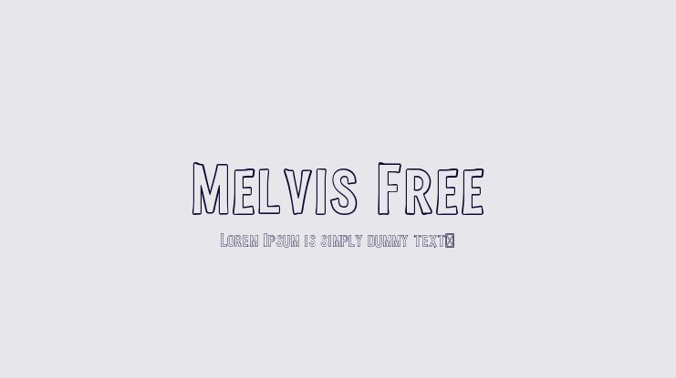 Melvis Free Font Family