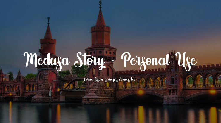 Medusa Story - Personal Use Font