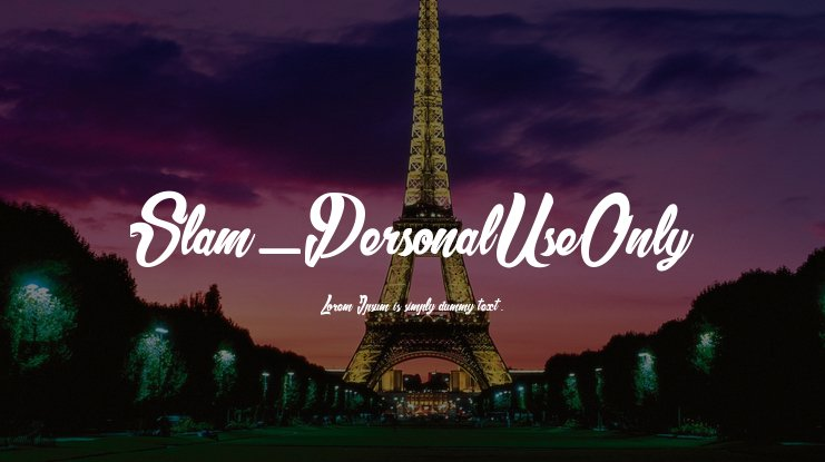 Slam_PersonalUseOnly Font