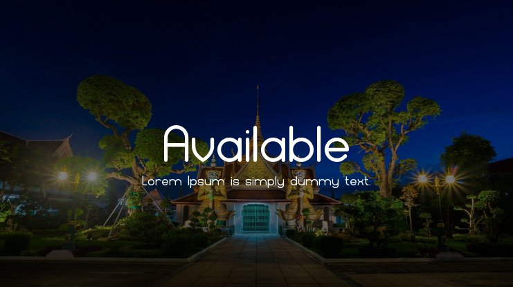 Available Font