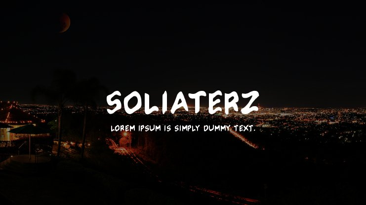 Soliaterz Font Family