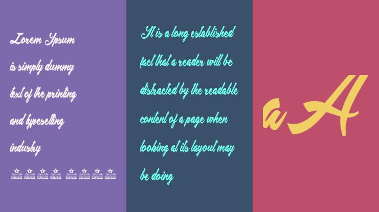 Placid Pool Personal Use Font